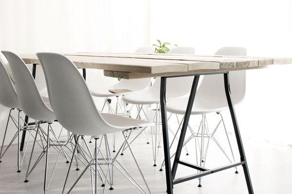Witte Tafel Zwarte Stoelen.Eettafel Met Stoelen Ikea