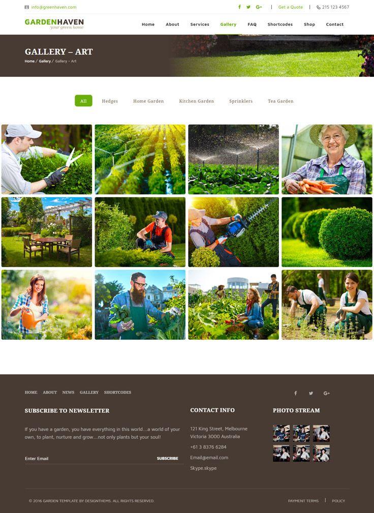 Garden Landscape Gardening Wordpress Theme Garden Services Garden Buy Garden