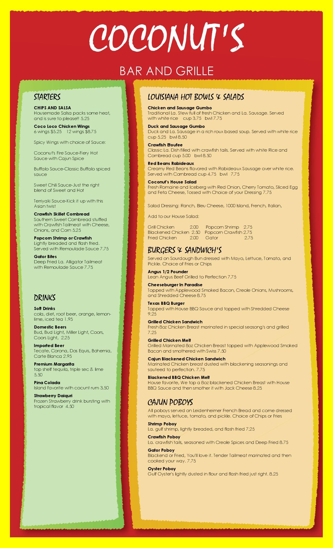 Bar And Grille Template Menu Design Chips And Salsa Menu Design Spicy Wings