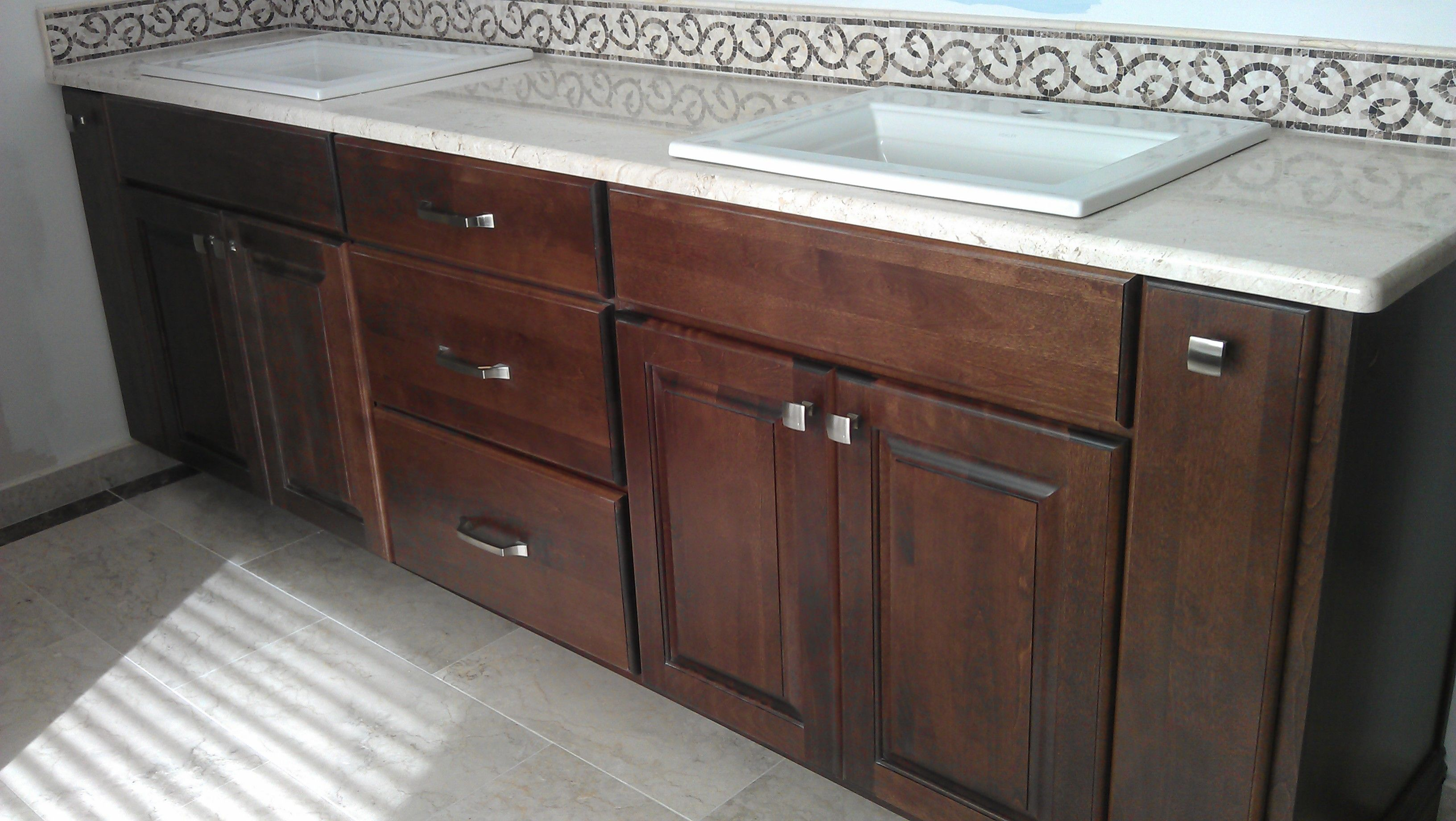 Koch Classic cabinetry. Seneca raised panel door style. Mocha stain ...