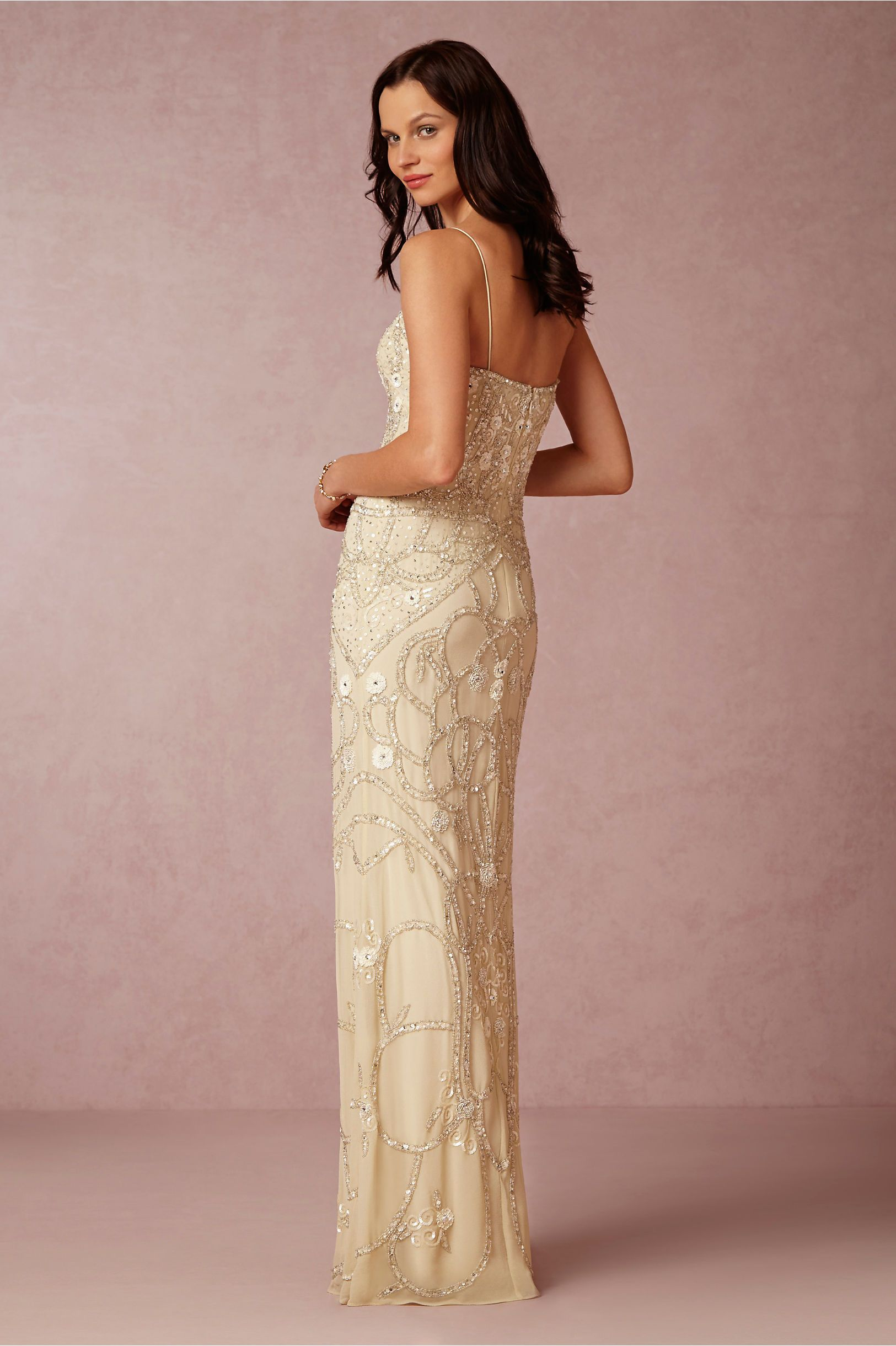 Aria Gown in Sale Wedding Dresses at BHLDN | Gold | Pinterest ...
