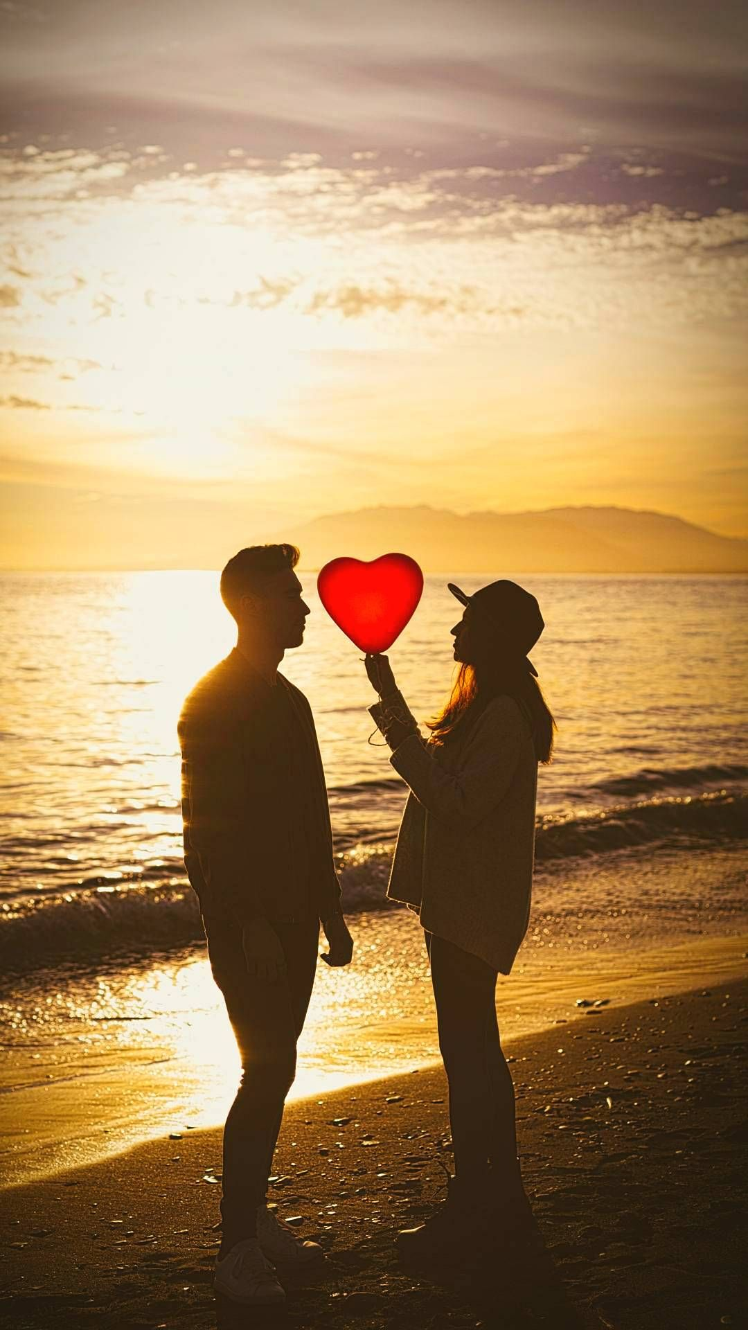Couples In Sunset Hd Wallpapers 1080x1920 Full Hd Love Wallpaper Love Wallpapers Romantic Download Cute Wallpapers