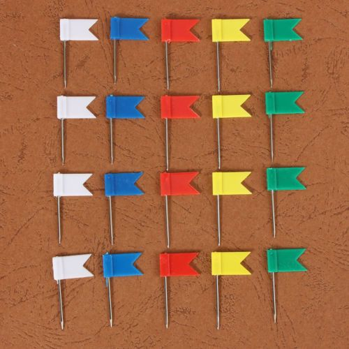 20x 5colour Flag Push Pins Home Office School Supplies Cork Board Map Drawing U Other Supplies Stationery O Cork Board Map Stationery Supplies Cork Board