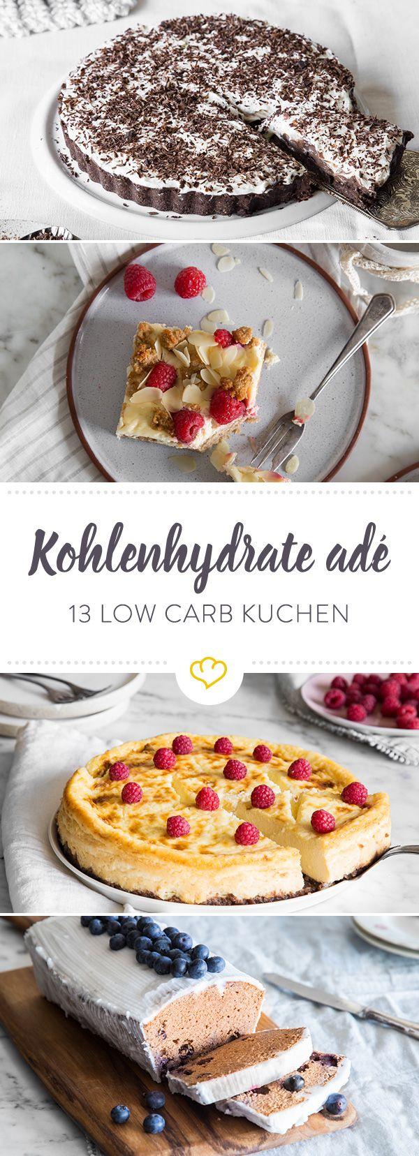 Low Carb Kuchen - 13 Ideen für Kuchen ohne Kohlenhydrate #cheesecakes