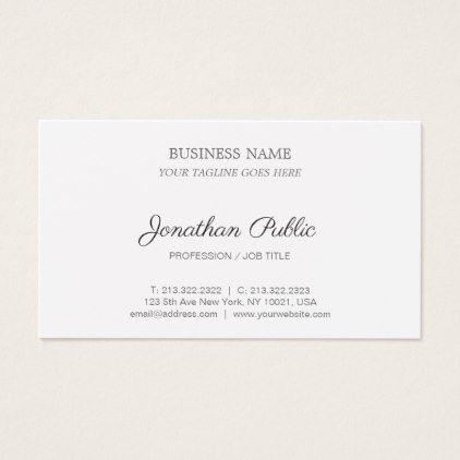 Modern stylish sleek design corporate plain business card modern stylish sleek design corporate plain business card consultant business job profession diy customize stopboris Images