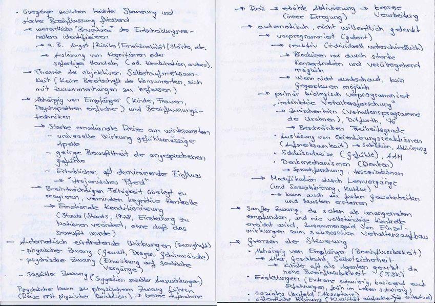 Entscheidungen und deren Beeinflussung, Einsatzbereiche und Grenzen (Quelle, Werner Kroeber-Riel, Gundolf Meyer-Hentschel, Werbung, Steuerung des Konsumentenverhaltens, S. 30-46)