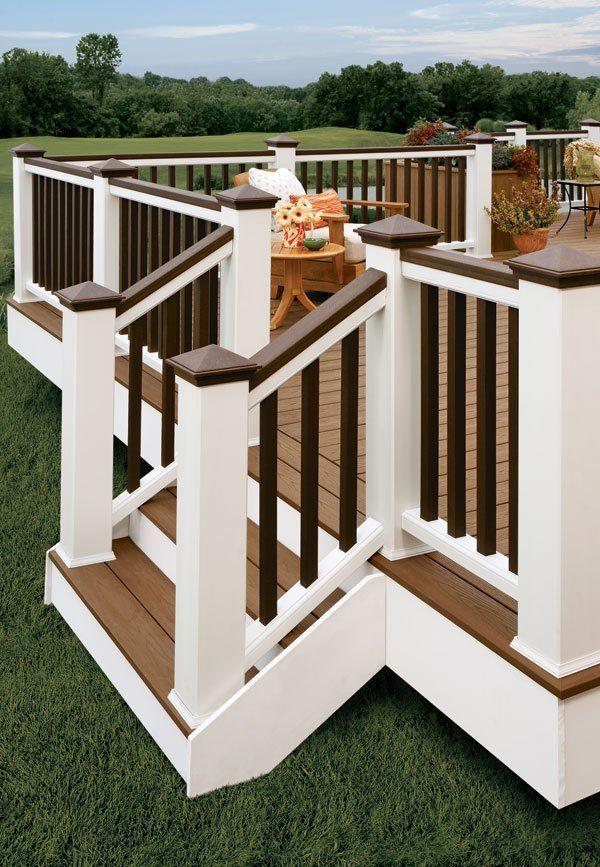 Best I Like The Two Tone Railing Deck Paint Backyard Deck 400 x 300