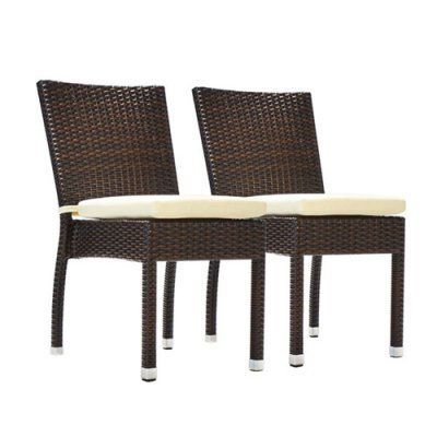 Pleasant Outdoor Benasse Jersey Stackable Wicker Patio Dining Chair Home Interior And Landscaping Ologienasavecom