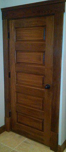 Horizontal 5 Panel Poplar Wood Door Traditional Interior Doors