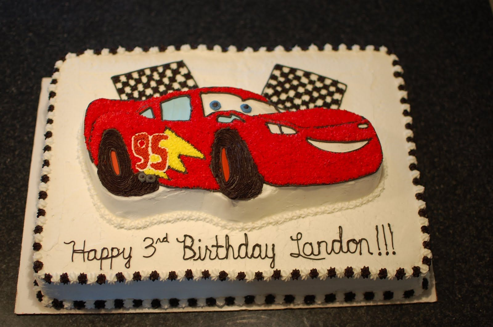 Lightning Mcqueen Birthday Cakes