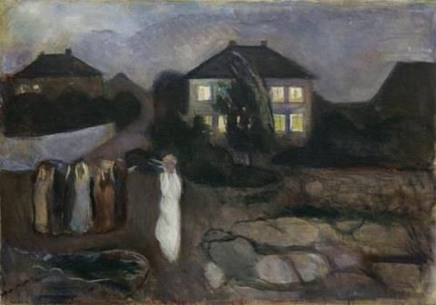 """The storm"", Edvard Munch, 1893"