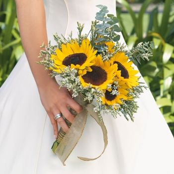 Touch of Sun Boutonniere and Corsage Wedding Package | Sunflower ...