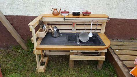 Matschküche selber bauen Diy stuff, Garten and Gardens - wasserwand selber bauen garten