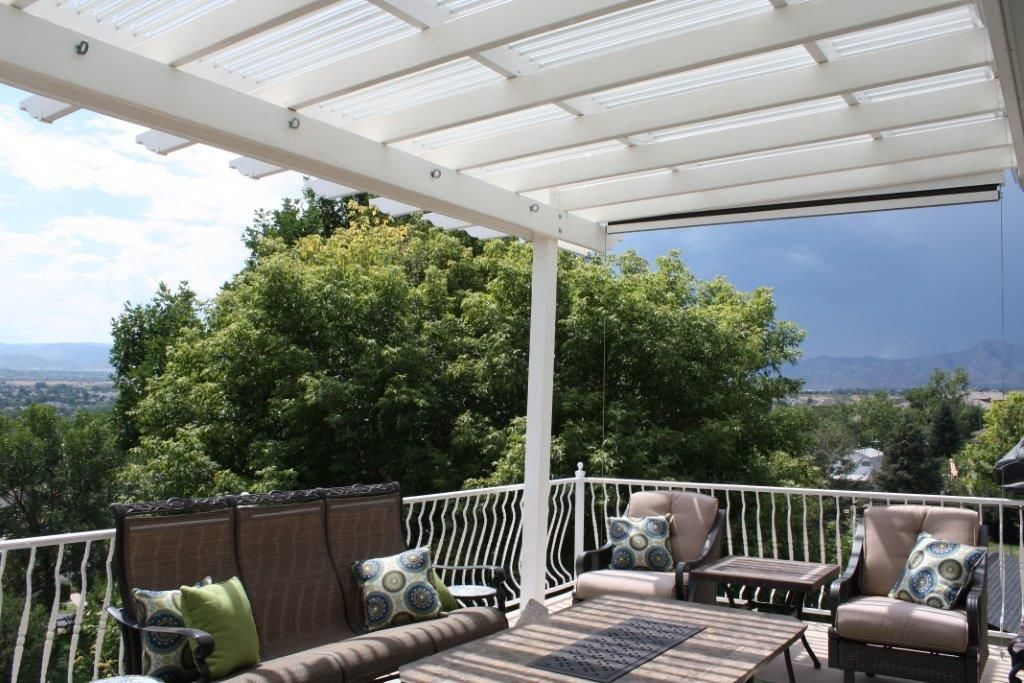 This Patio Cover Opens And Closes To Allow Sun In Or Block Out As Well Rain Add One Your Deck Serving Greenville Spartanburg