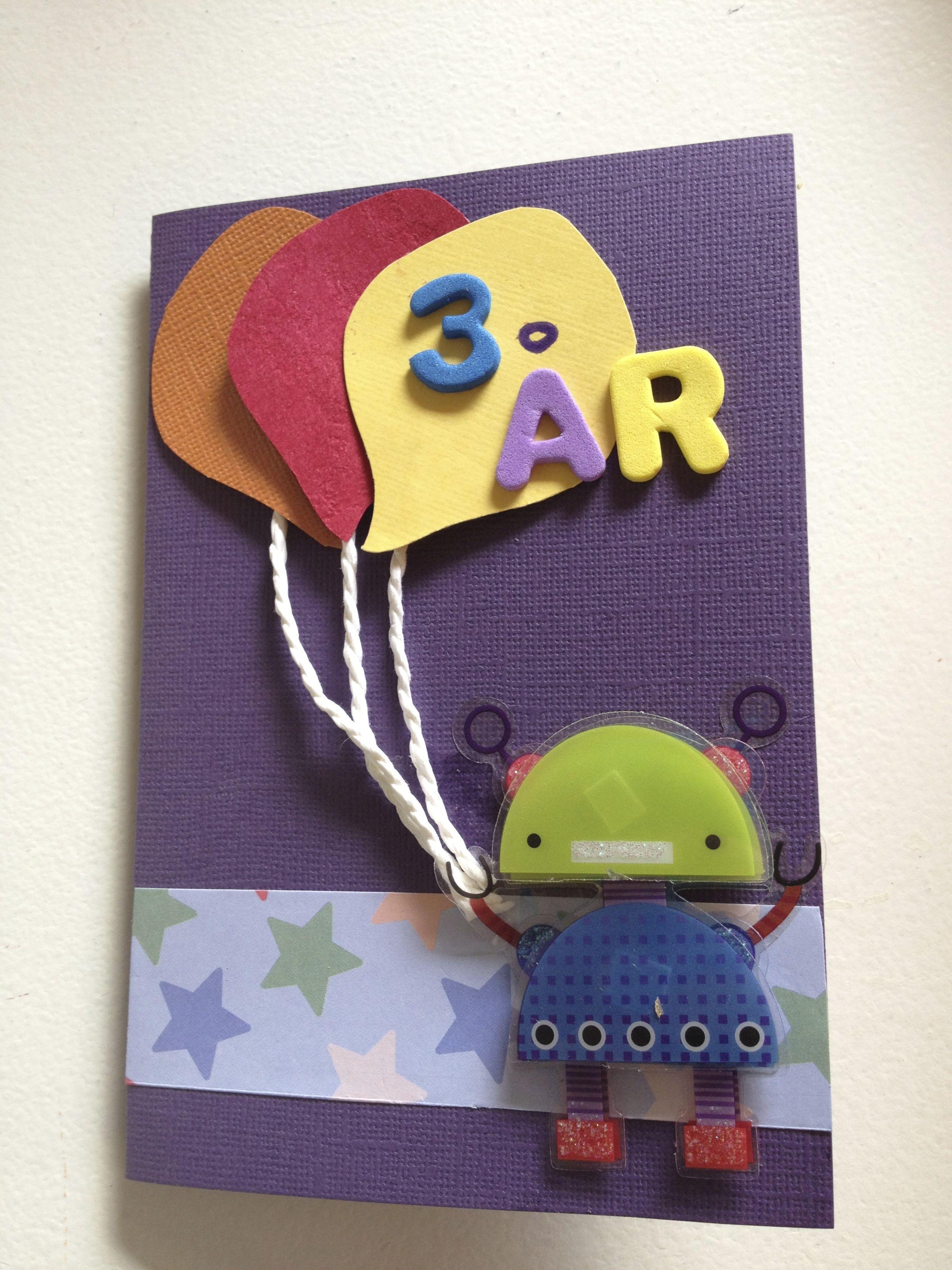 Homemade birthday card for 3 year old girl my stuff pinterest homemade birthday card for 3 year old girl kristyandbryce Choice Image