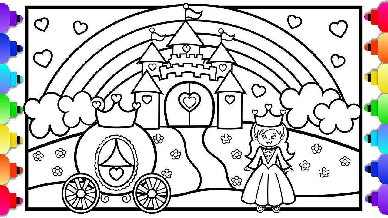 Visit Rainbowplayhouse Com To Print This Coloring Page Princess Castle Coloring Pag Disney Princess Coloring Pages Castle Coloring Page Unicorn Coloring Pages