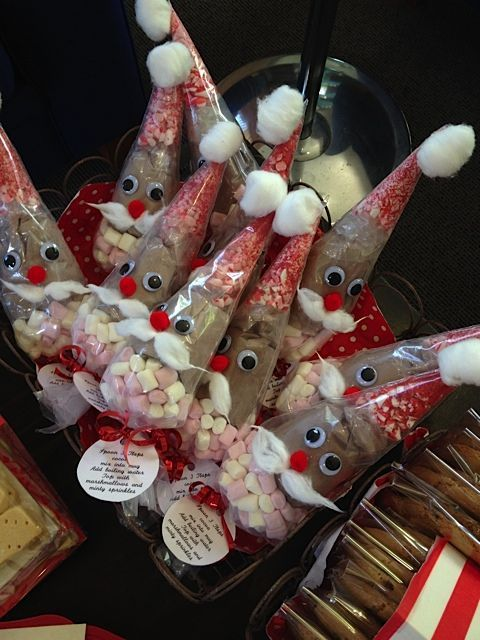 Superior Christmas Craft Ideas To Sell For Kids Part - 4: Hot Chocolate Santa Cones Great For Christmas Market Stalls For The Children  To Sell!