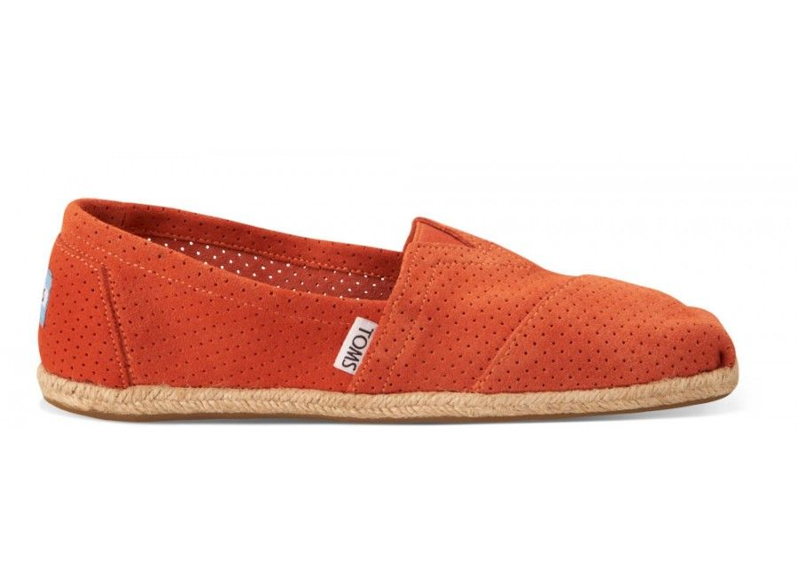 c2ac985957c Deep Orange Perforated Suede Women s Classics. Only a few left! Deep Orange  Perforated Suede Women s Classics Toms Shoes ...