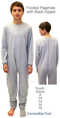 Back Zipper Pajamas Grey Size 8 To 18 Perfectly