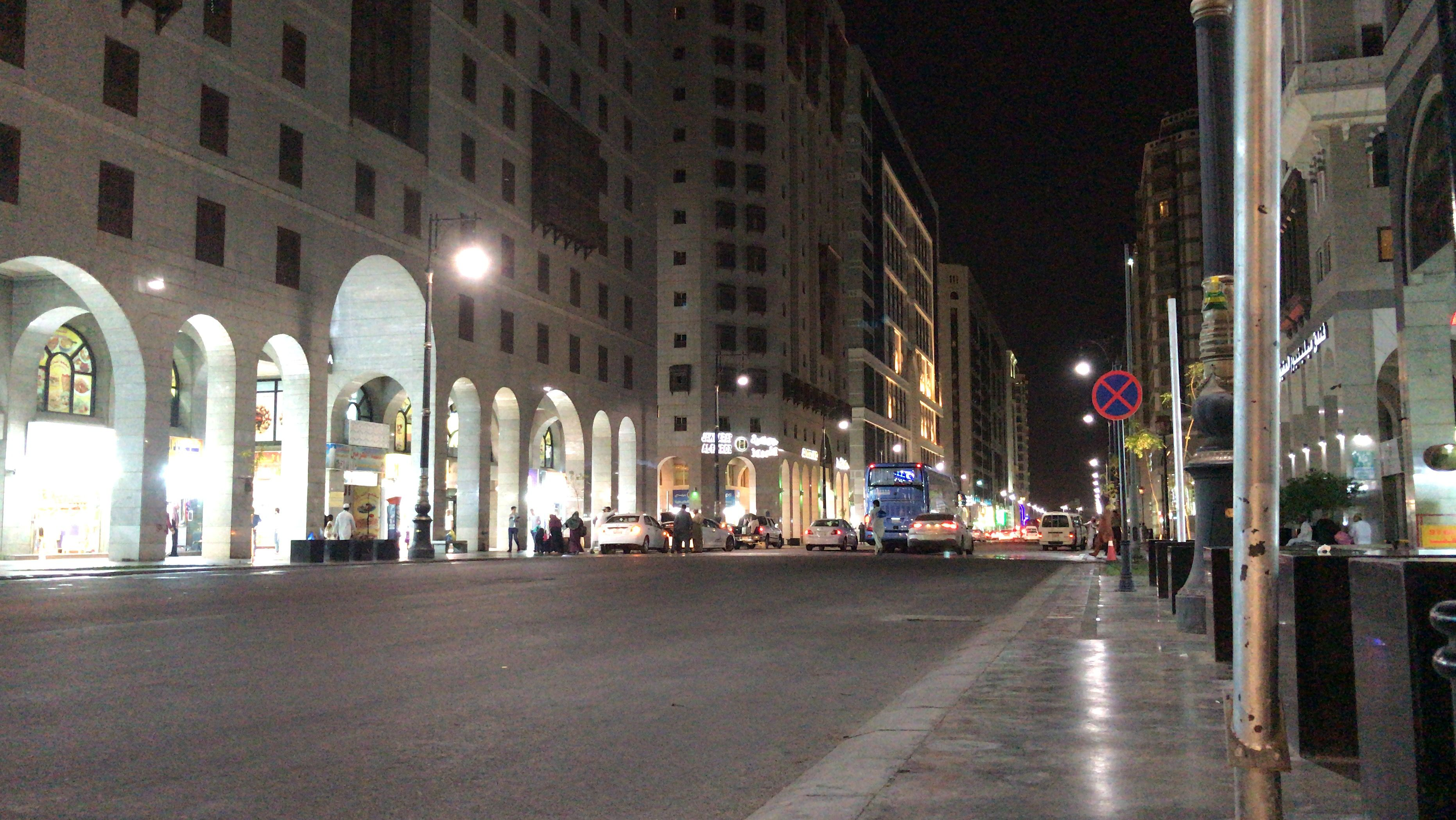 Pin By Habibbenzamerr On Madinah Night Street View Scenes Street