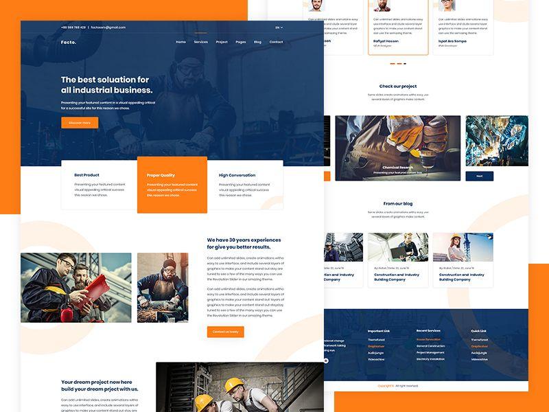 Facto Industry Website Website Design Trends Website Design Website Design Inspiration