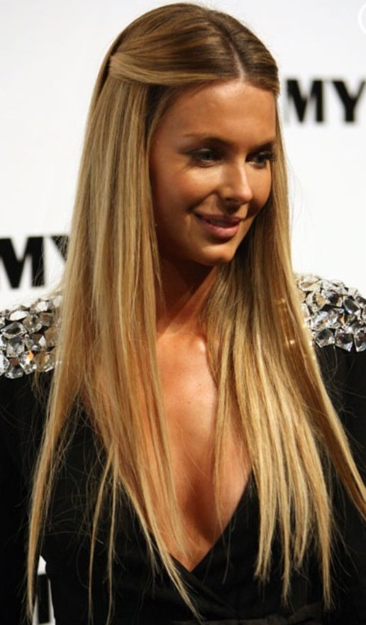 Jennifer Hawkins Straight Hair Google Search Straight Hairstyles Straight Prom Hair Long Straight Hair
