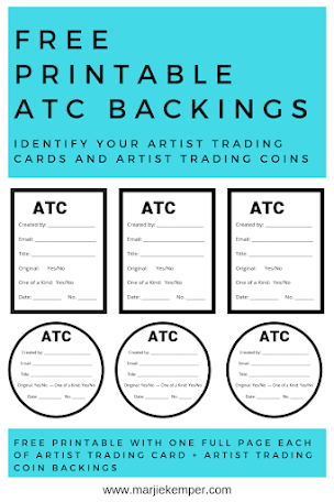 Free Printable Atc Labels Artist Trading Cards Trading Card Ideas Art Trading Cards