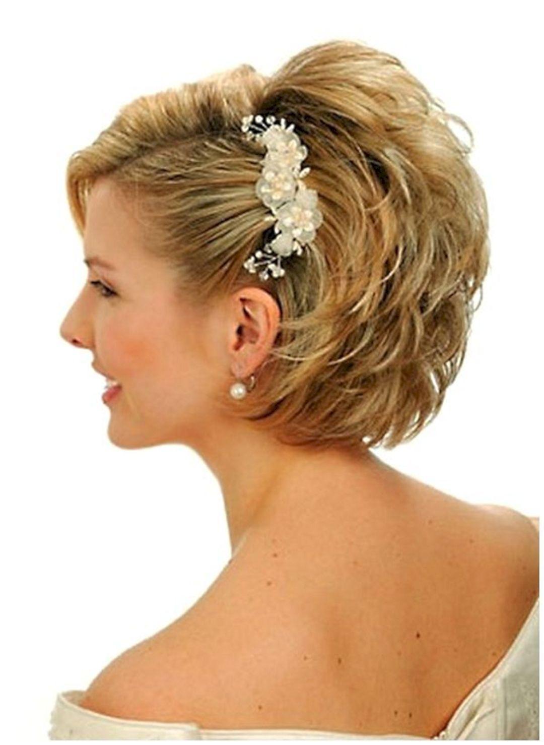 elegant short updo hairstyles for summer weddings ideas short