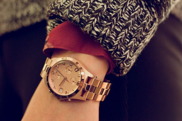 Marc Jacobs rose gold watch!!!