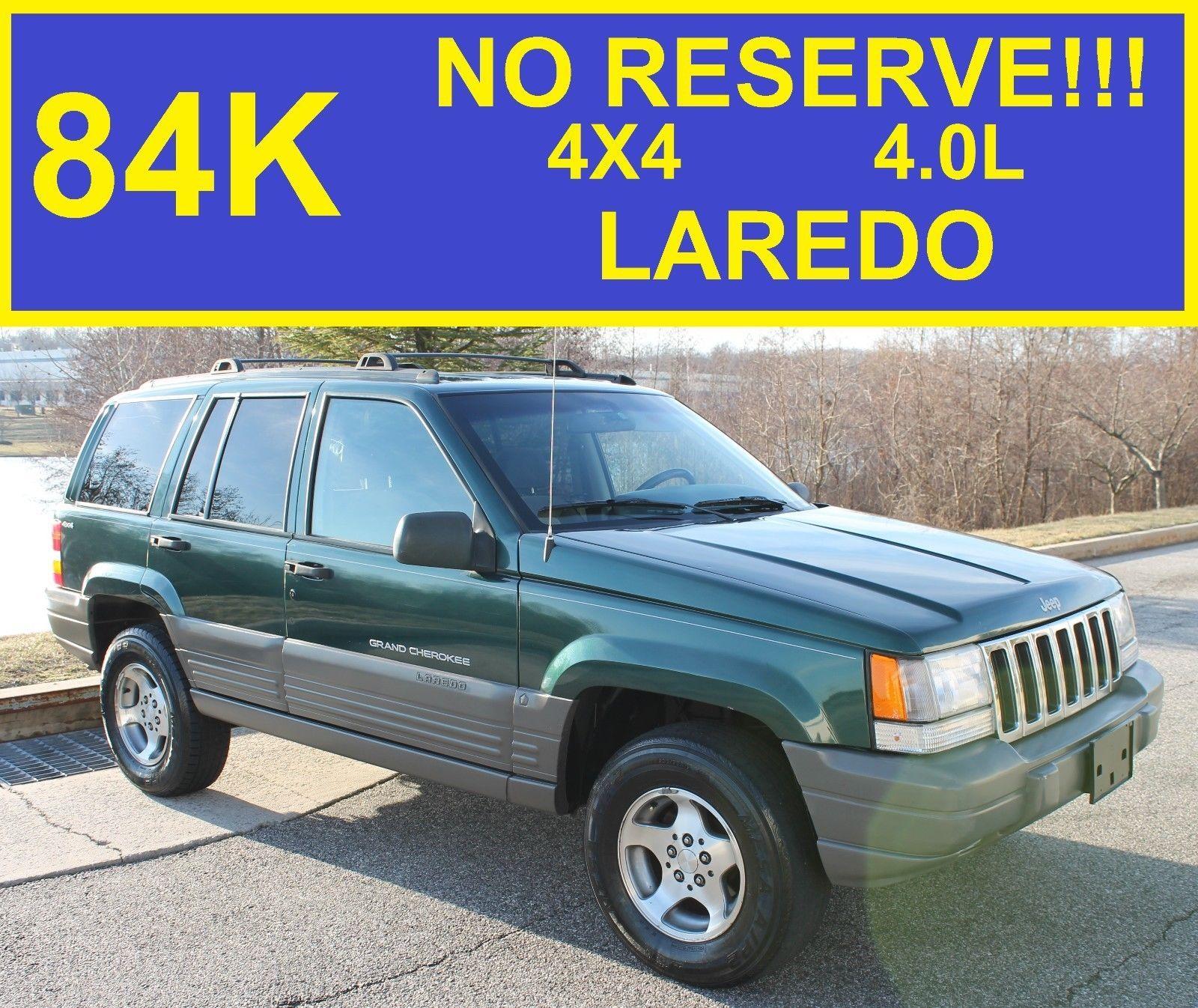 1998 Jeep Grand Cherokee Laredo >> 1998 Jeep Grand Cherokee Laredo No Reserve Laredo 84k Jeep