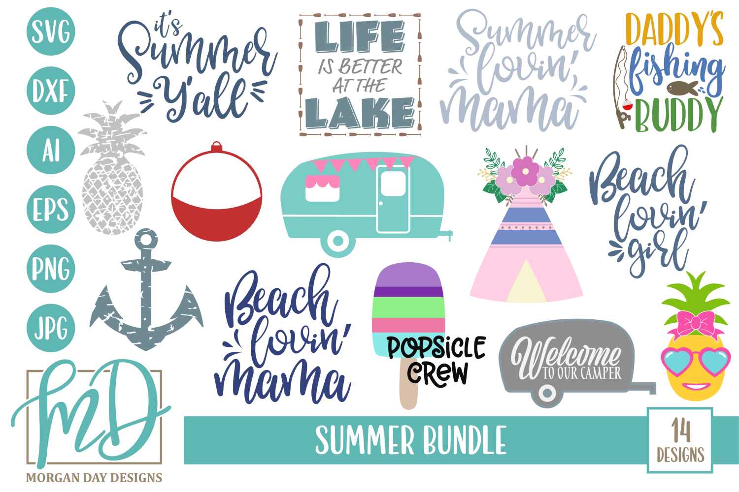 Summer SVG Bundle (Graphic) by Day Designs