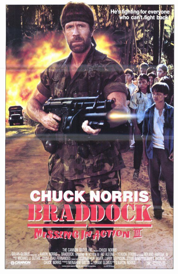 Charming Braddock: Missing In Action III , Starring Chuck Norris, Aki Aleong, Roland  Harrah Inside Missing In Action Poster