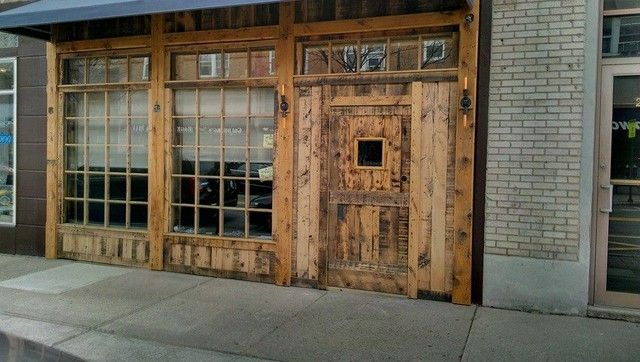 Barndoor 13th street restaurant pinterest for Barn style exterior doors