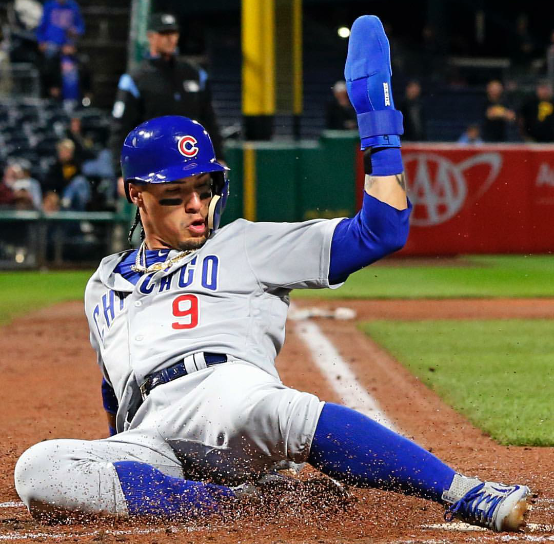 Javy Baez Slides In Cubs Players Chicago Cubs World Series Chicago Cubs