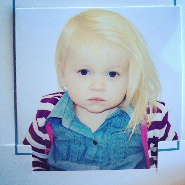 I had to put Ada's passport photo on here because I'm obsessed with her in it and she's my girly girly inspiration everyday! #hipstertoddler #hip #cutestbabyever