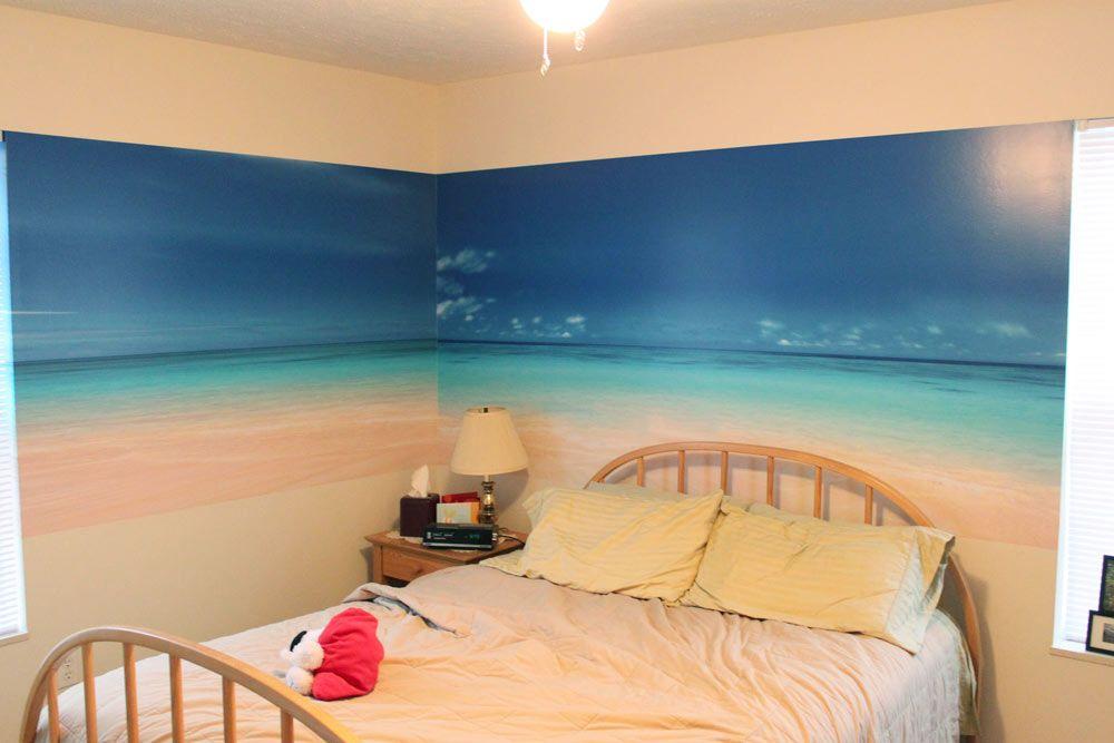 Beach Scene Wall Murals Gallery home design wall stickers