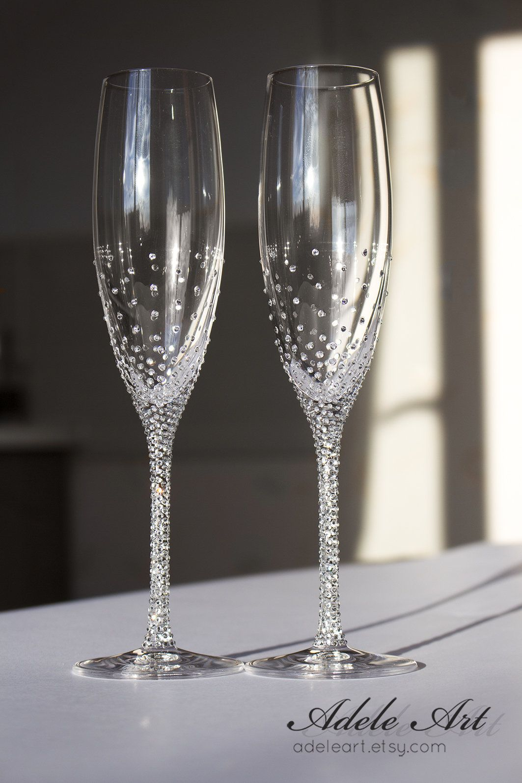 Champagne Wedding Flutes Set Of 2 Wedding Glasses Bride And Etsy Wedding Champagne Glasses Wedding Glasses Wedding Champagne Flutes
