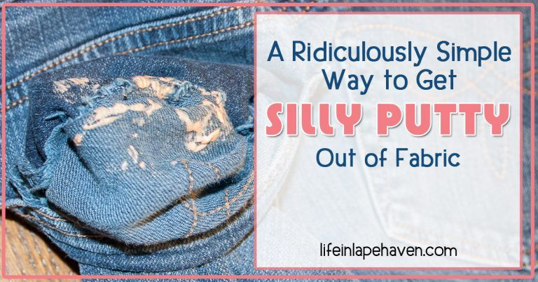 A ridiculously simple way to get silly putty out of fabric
