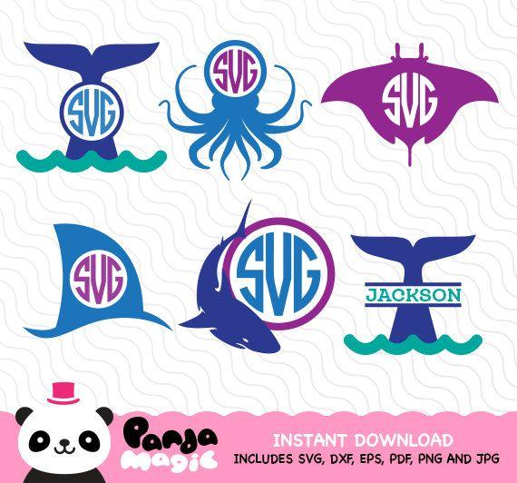 Sea Creatures Svg Cricut Silhouette Studio Sure Cuts A Lot Cameo