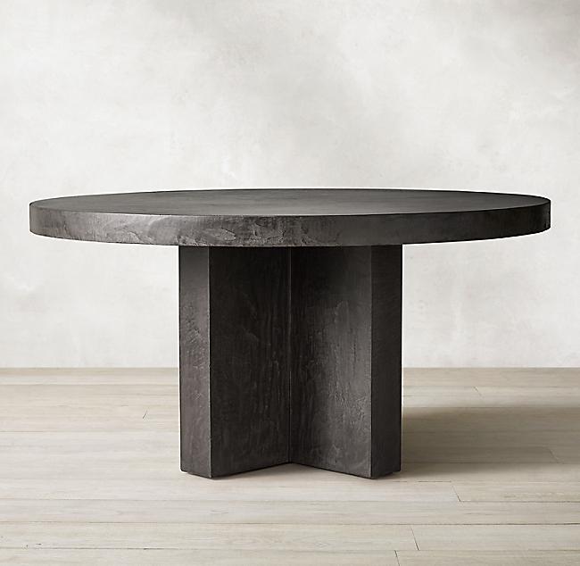 Cabrera Concrete Round Dining Table Concrete Dining Table Round Dining Table Concrete Outdoor Table