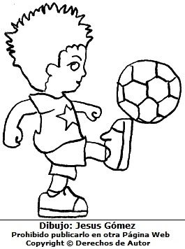 Nino Jugando Futbol Para Colorear Pintar E Imprimir Dibujo Hecho Por Jesus Gomez Jpg 265 356 Vault Boy Smurfs Dibujo