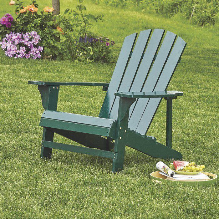 Clic Hunter Green Painted Wood Adirondack Chair Model 4610 Www Kotulas