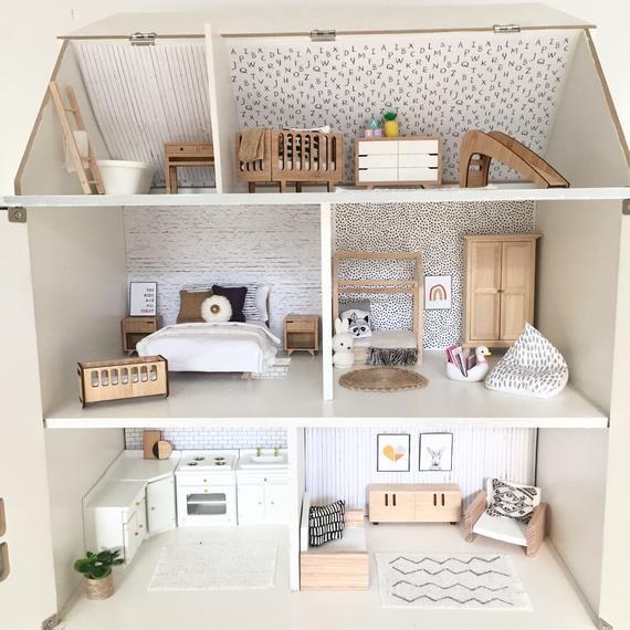 Miniature ABC Nursery Dollshouse Wallpaper