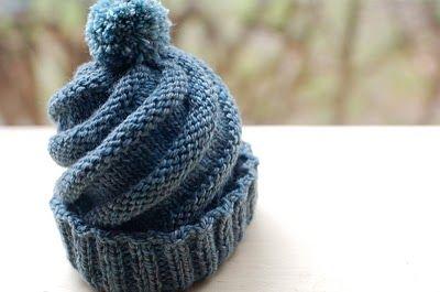 Swirled ski cap pattern here: http://www.craftyarncouncil.com/jun07_skicap.html