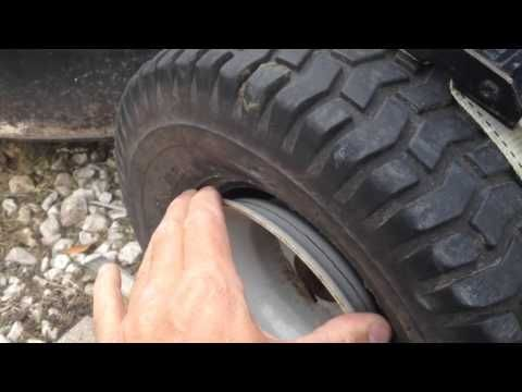 How To Get A Tractor Tire Back On The Rim