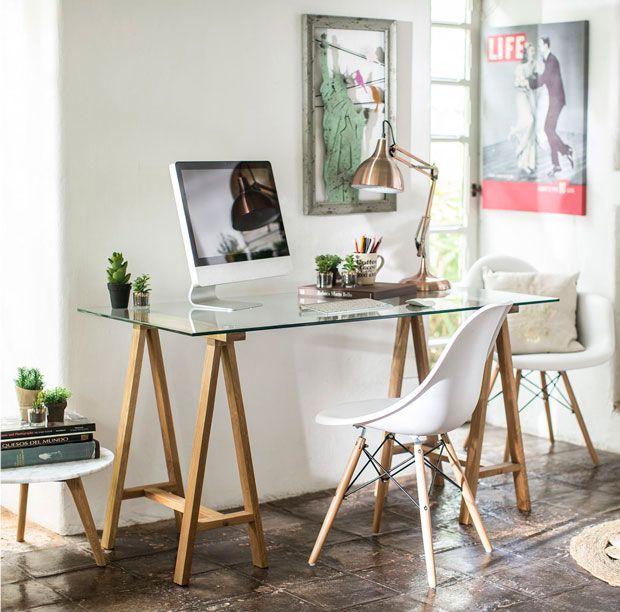 6 escritorios para 6 estilos distintos escritorio madera for Amoblar departamentos pequenos