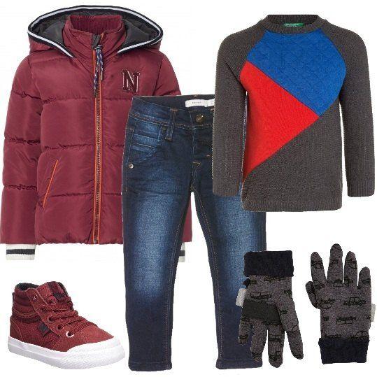 nuove varietà foto ufficiali ottenere a buon mercato Jeans abbinati a maglione Benetton e a splendido piumino con ...