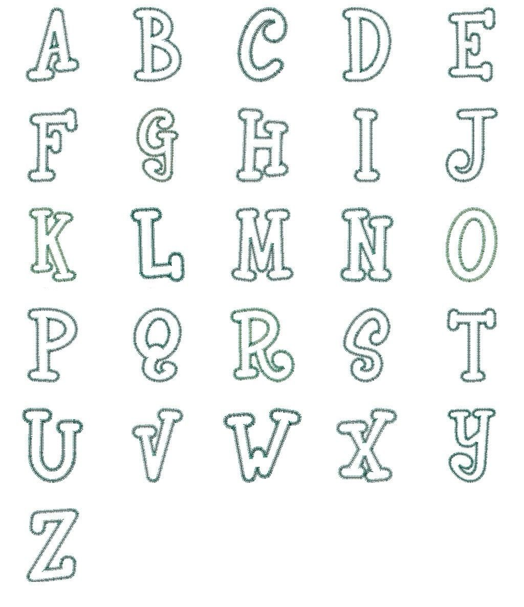 Machine Embroidery Fonts And