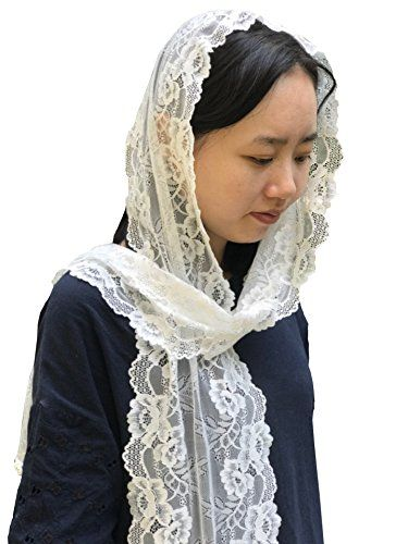 Designer Long Ivory Soft Lace Scarf Veil Catholic Veil Chapel Mantilla v18  Features  New Arrival Pure Handmade Vintage Lace Headwear  Length: 78inches(195cm) Width: 9.8inches(25cm)  It is made of a very soft vintage-looking lace. It can be used wedding party and daily life. It is high quality and soft. It can be tailored according to your need. It can be used as headband veil scarf und table runner.