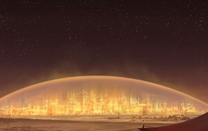 Human Mars Night City Futuristic City City Aesthetic